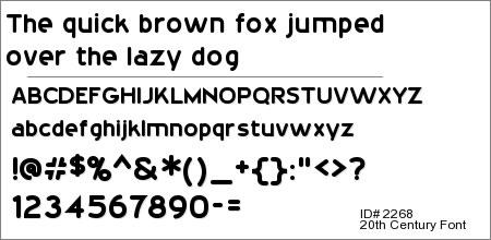 20th Century Font