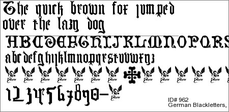 German Blackletters, 15th c.