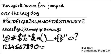 Handwriting Plain:0.0