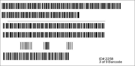 3 of 9 Barcode