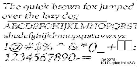 101 Puppies Italic SW
