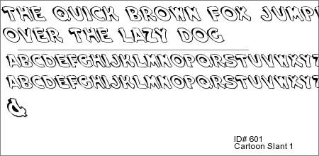 Cartoon Slant 1