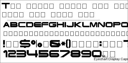 Eyechart Display Caps SSi