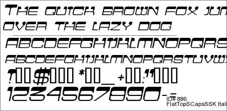 FlatTopSCapsSSK Italic