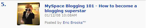 How to be a blogging superstar on MySpace...