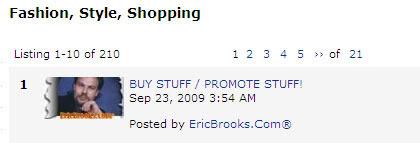 Buy Stuff/Promote Stuff