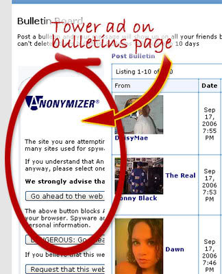 Tower ad from bulletins page... BLOCKED